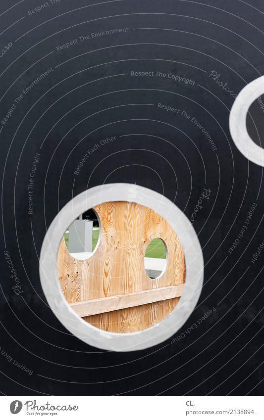 baustelle schaustelle Holz Perspektive Kreis Wandel & Veränderung rund Neugier Baustelle Barriere Handwerk Loch bauen Durchblick