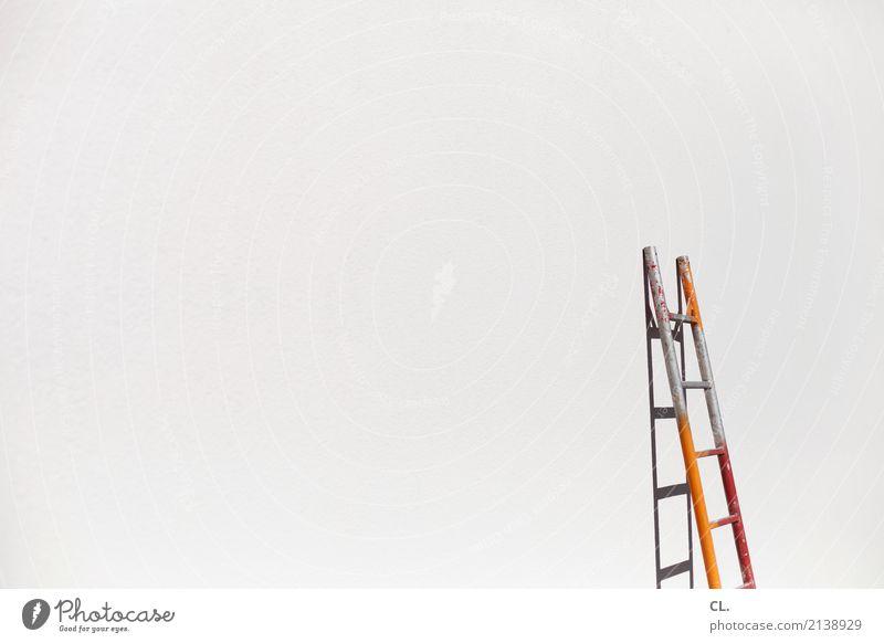 leiter Hausbau Arbeit & Erwerbstätigkeit Beruf Handwerker Baustelle Karriere Erfolg Feierabend Leiter Gebäude Mauer Wand einfach Unendlichkeit Farbfoto