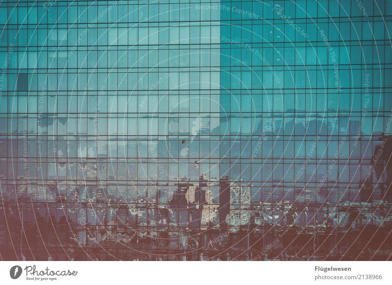 völlig verschwommen Ferien & Urlaub & Reisen Tourismus Ausflug Abenteuer Ferne Freiheit Sightseeing Städtereise Skyline überbevölkert Hochhaus Bankgebäude