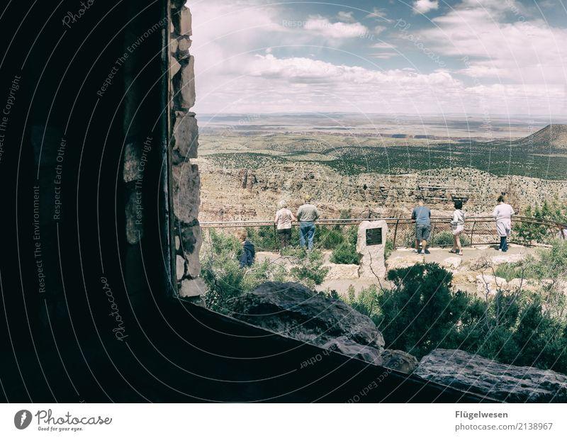 Ausblick Himmel Ferien & Urlaub & Reisen Sommer Ferne Berge u. Gebirge Freiheit Tourismus Felsen Ausflug wandern Aussicht Abenteuer USA Hügel Sehenswürdigkeit