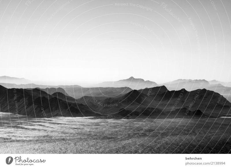 wenn die reise zu ende geht Himmel Ferien & Urlaub & Reisen schön Landschaft Meer Ferne Berge u. Gebirge Küste außergewöhnlich Freiheit Tourismus fliegen