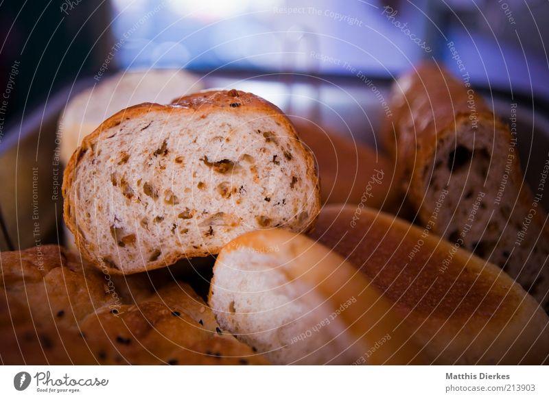 Baguette Teigwaren Backwaren Brot Brötchen Ernährung Frühstück Mittagessen Abendessen Vegetarische Ernährung ästhetisch Gesundheit lecker blau braun grau alt