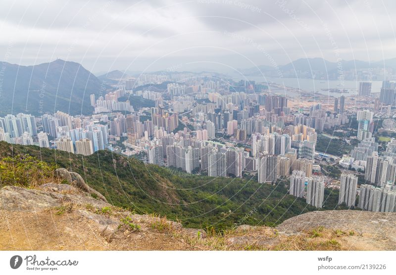 Hong Kong Panorama vom Lion Rock Ausflug Insel Berge u. Gebirge Natur Skyline Architektur schön lion rock hill Aussicht China Hongkong Attraktion Kowloon