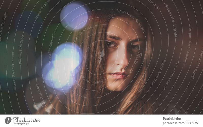 Depression feminin Junge Frau Jugendliche Schwester Kopf Gesicht 1 Mensch 13-18 Jahre Denken Traurigkeit blau braun trösten Trauer Liebeskummer Müdigkeit Unlust