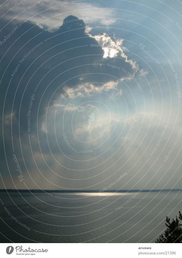 Peenestrom Wasser Sonne Wolken Beleuchtung