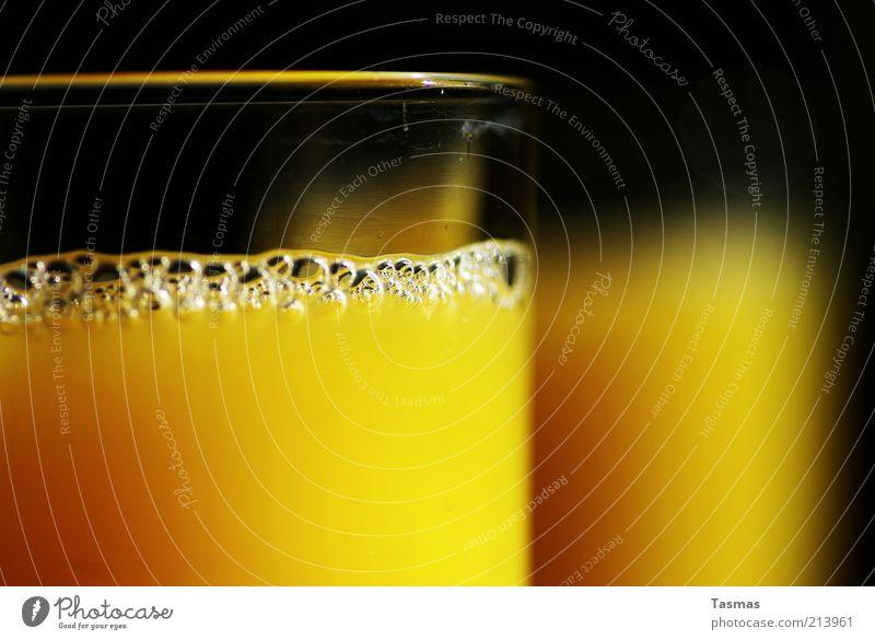 Drink zum Sonntag gelb Gesundheit Glas frisch trinken rein Getränk Saft Ernährung Orangensaft