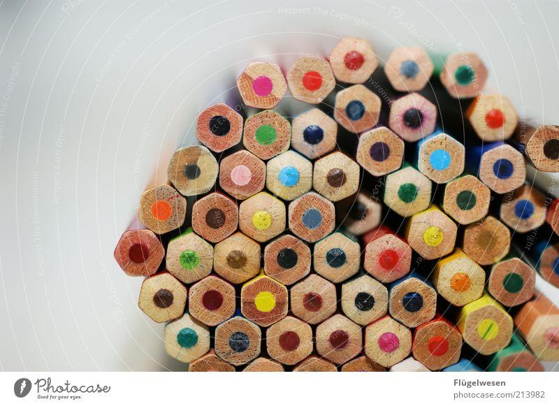 Anstiften Holz Farbstoff Kunst Freizeit & Hobby schreiben Schreibstift zeichnen malen viele Bleistift Farbstift Schreibwaren Aktion aufeinander