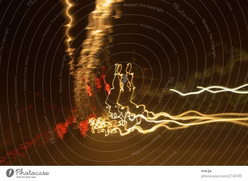 Lichtgeister weiß rot gelb braun Hintergrundbild leuchten Lichtspiel Erscheinung Langzeitbelichtung Leuchtspur wellig Wellenform Lichtschweif Lichtbahn