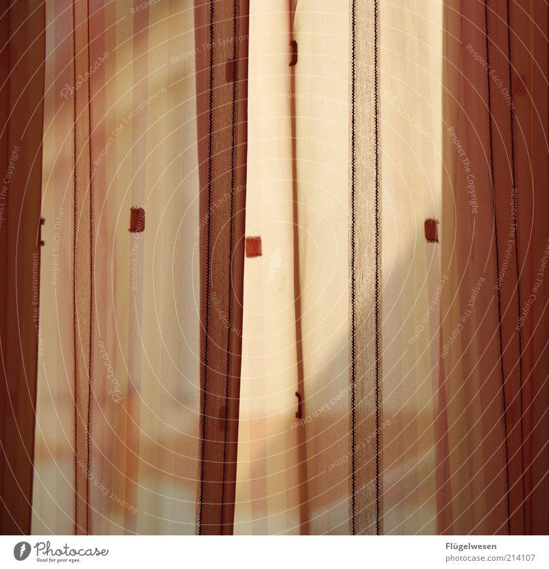 Gardinenpredigt Haus Farbe Fenster warten Wohnung Lifestyle Zukunft Häusliches Leben Falte Aussicht Wohnzimmer Vorhang Gardine Schlafzimmer ungewiss Baumwolle