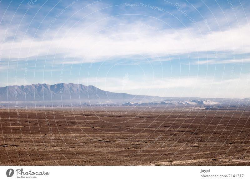 Weite Umwelt Landschaft Erde Himmel Wolken Horizont Klima Dürre Berge u. Gebirge Wüste Peru trist trocken blau braun weiß Freiheit Ferne Farbfoto Außenaufnahme