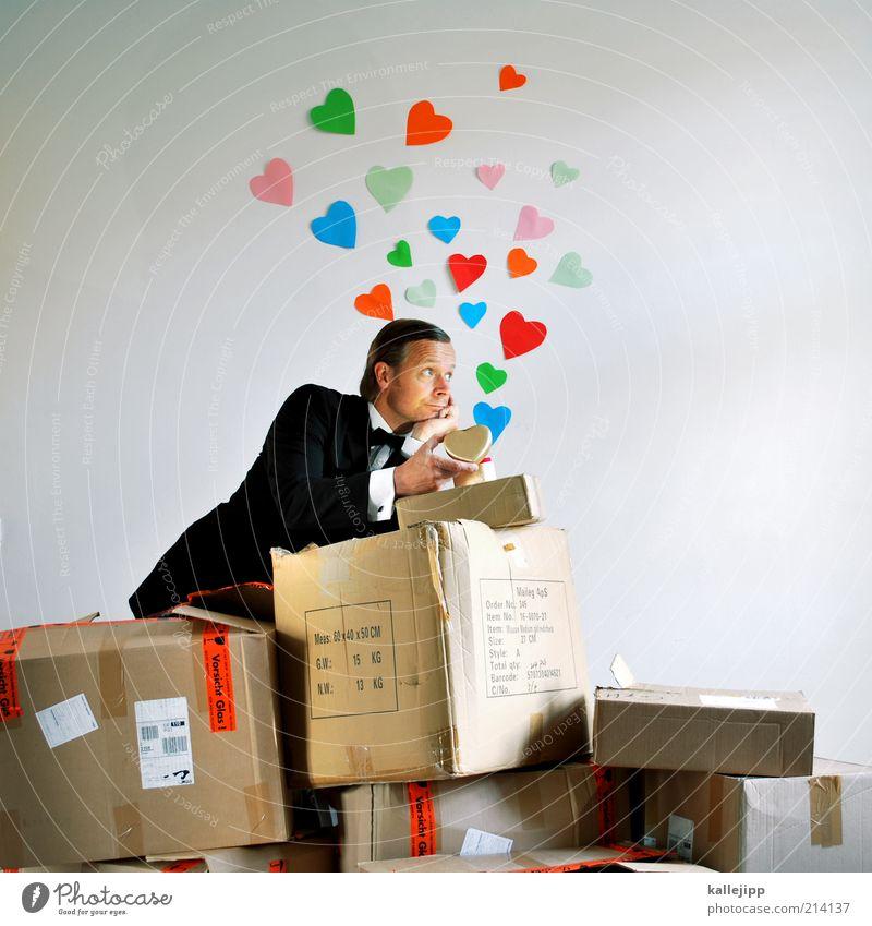 liebesgrüße aus moskau Lifestyle Mensch Mann Erwachsene Paar Partner Leben 1 30-45 Jahre Anzug Zeichen Herz Liebe träumen Verliebtheit Treue Romantik schön