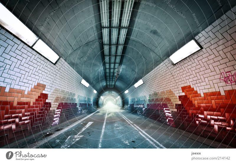 You Tube Wege & Pfade Linie Beleuchtung Nebel modern Ziel Fliesen u. Kacheln Pfeil Zeichen Tunnel Röhren Richtung Verkehrswege Baden-Württemberg Licht