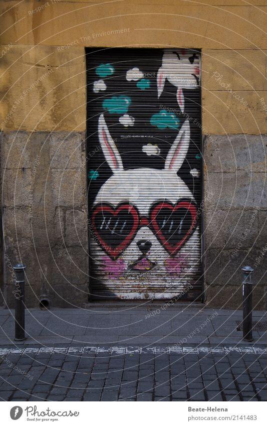weitsichtig l jetzt auf Ostern vorbereiten! Feste & Feiern Kunstwerk Veranstaltung Madrid Gebäude Mauer Wand Tür Tier Tiergesicht Hase & Kaninchen Osterhase