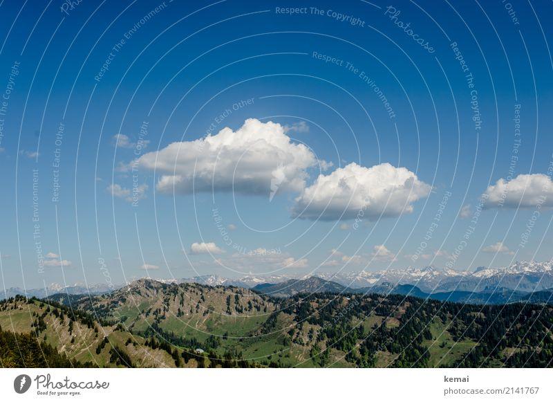 Wolken, Berge, Gipfel Himmel Natur Ferien & Urlaub & Reisen Sommer Landschaft Erholung ruhig Ferne Berge u. Gebirge Wärme Freiheit Felsen Ausflug