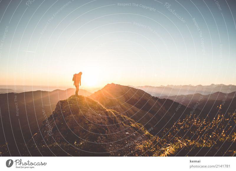 Good dawning to thee, friend. Mensch Natur Ferien & Urlaub & Reisen Sommer Landschaft ruhig Ferne Berge u. Gebirge Leben Umwelt Glück außergewöhnlich Freiheit