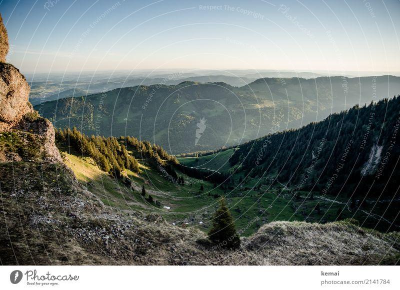 Der Tag am Berg beginnt mit Licht und Schatten harmonisch Sinnesorgane Erholung ruhig Ferien & Urlaub & Reisen Ausflug Abenteuer Ferne Freiheit Berge u. Gebirge