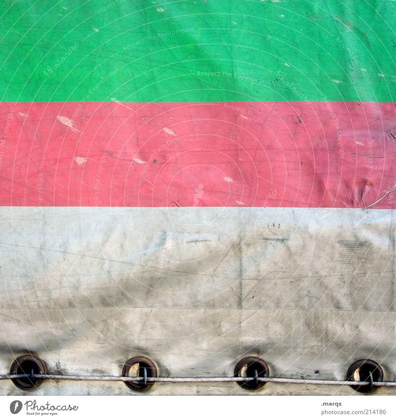 Cover weiß grün Farbe Linie dreckig rosa Hintergrundbild Design Verkehr Güterverkehr & Logistik Streifen Zeichen Lastwagen Kunststoff Wirtschaft Geometrie