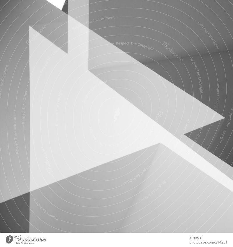 Play Lifestyle elegant Stil Design Zeichen Pfeil ästhetisch eckig einzigartig positiv schön verrückt grau weiß Ordnung Perspektive skurril