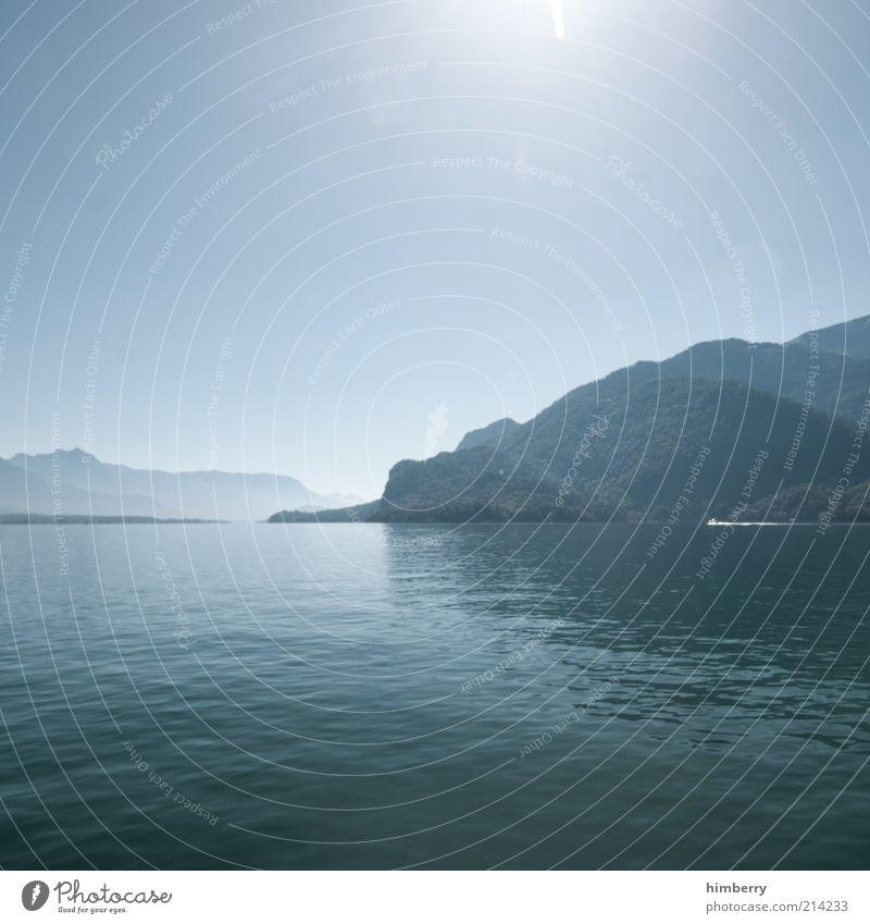 sea level Ferien & Urlaub & Reisen Freiheit Sommer Sommerurlaub Berge u. Gebirge Umwelt Natur Landschaft Wasser Himmel Wolkenloser Himmel Sonnenlicht Klima