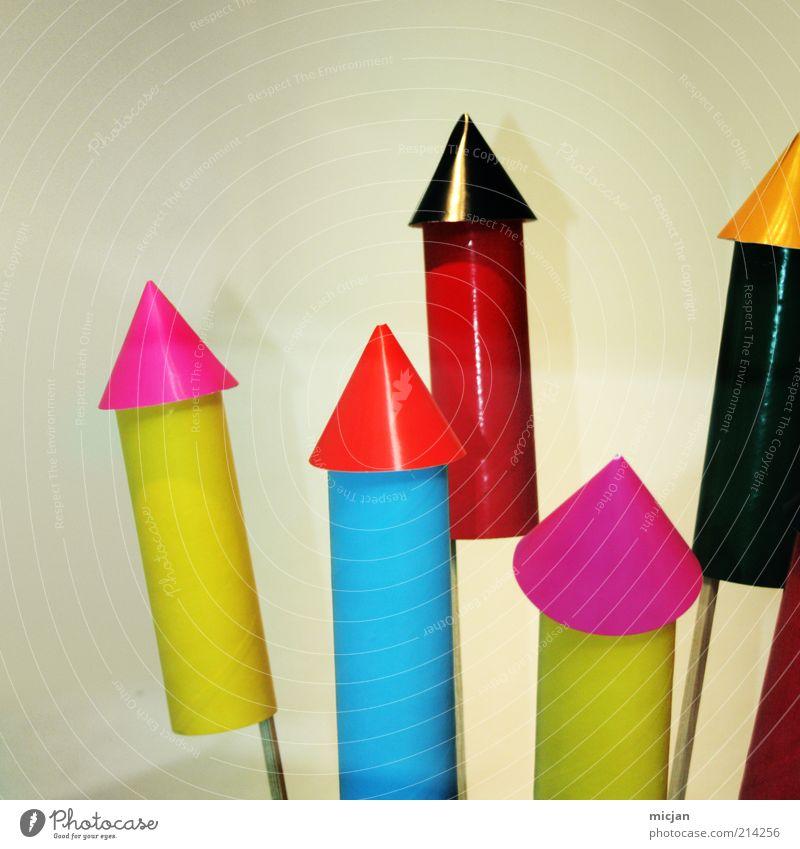 Skybombing |In a Silvery Night blau grün rot schwarz gelb Feste & Feiern rosa glänzend Spitze einfach retro rund neu Kunststoff Pfeil Silvester u. Neujahr