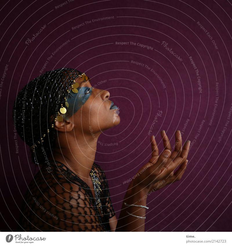 . Frau Mensch schön Erwachsene Leben feminin Bewegung Kommunizieren authentisch beobachten Neugier festhalten Vertrauen Leidenschaft Inspiration Wachsamkeit
