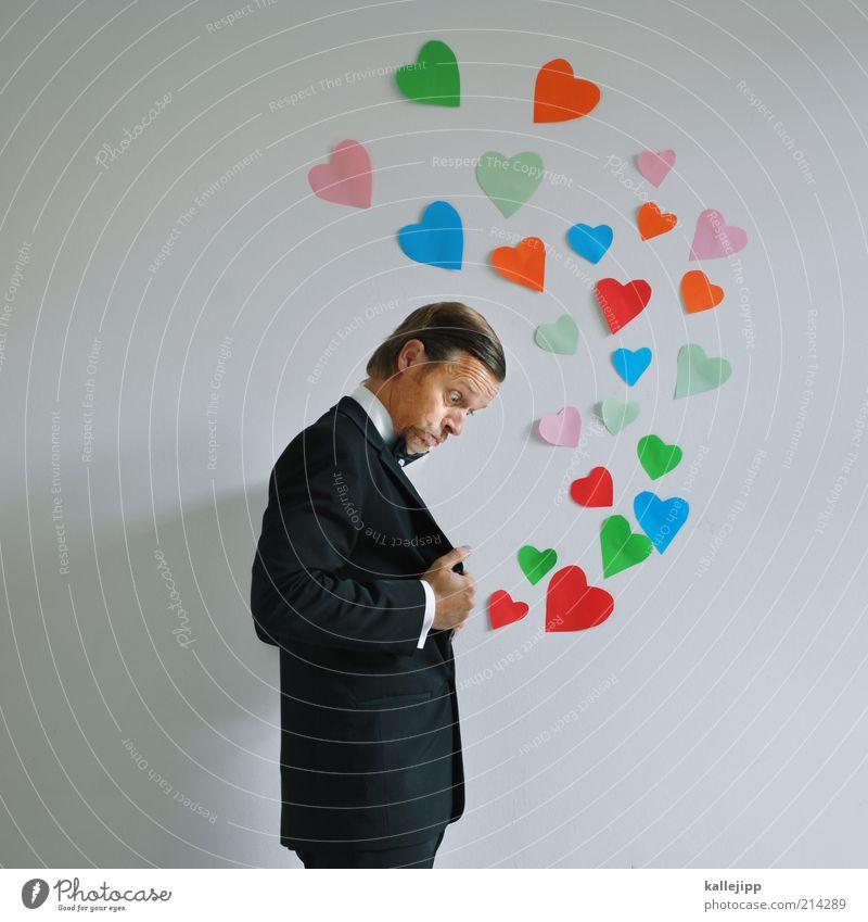 liebe geht durch den magen Mensch Mann Erwachsene Liebe Leben Gefühle Paar Herz elegant maskulin süß Hemd entdecken Anzug Verliebtheit Partner