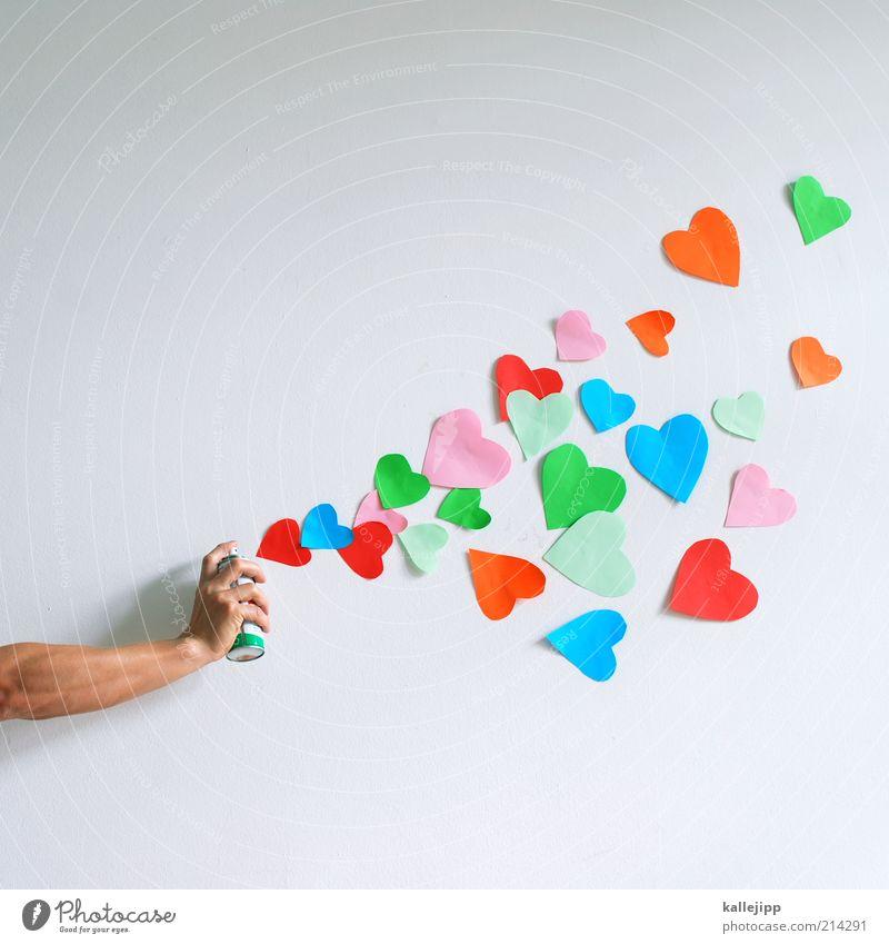 make love! Hand Liebe Graffiti Kunst Arme Herz Politische Bewegungen Finger Lifestyle Kultur berühren Zeichen Feste & Feiern Information Frieden Jugendkultur