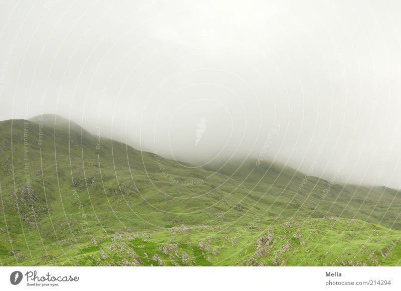 Green and Grey V Ferien & Urlaub & Reisen Umwelt Natur Landschaft Urelemente Wolken Nebel Hügel Berge u. Gebirge Highlands natürlich grau grün Stimmung ruhig