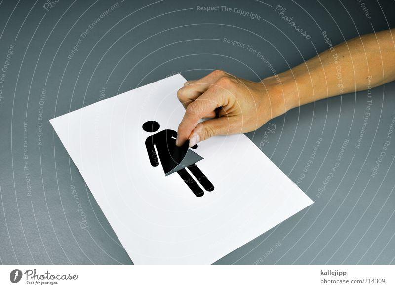 spanner Frau Mensch Freude Erwachsene feminin Leben Freiheit Mode Kleid Grafik u. Illustration Symbole & Metaphern berühren Zeichen Toilette Rock frech