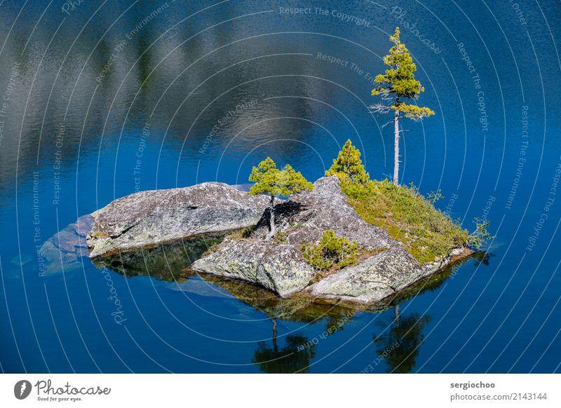 Natur blau Sommer schön Wasser Erholung Einsamkeit Küste Tourismus See Felsen wandern elegant ästhetisch Idylle Abenteuer