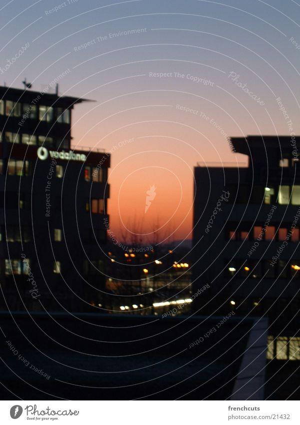 nacht über stuttgart Stimmung Freizeit & Hobby Skyline Abenddämmerung Stuttgart