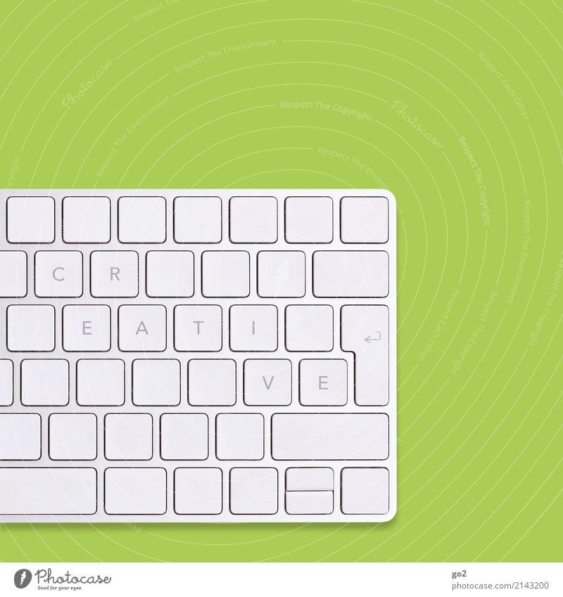 CREATIVE auf Tastatur / Grün Erwachsenenbildung Schule Berufsausbildung Azubi Praktikum Studium Arbeit & Erwerbstätigkeit Büroarbeit Designer Arbeitsplatz