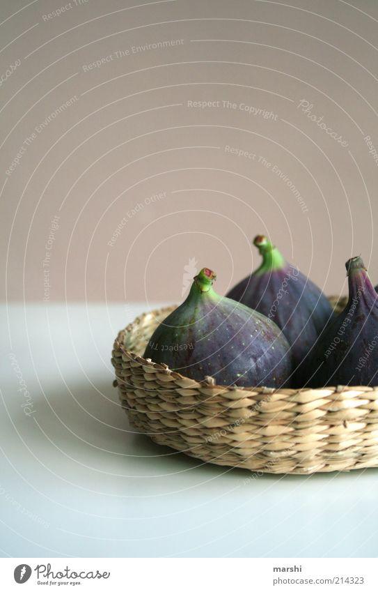 Feigenkörbchen grün Ernährung Lebensmittel Frucht violett Dekoration & Verzierung lecker Korb Dinge