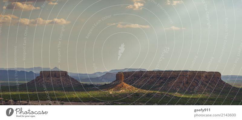 Im Rampenlicht Ferien & Urlaub & Reisen Abenteuer Ferne Freiheit Sommer Berge u. Gebirge Umwelt Natur Landschaft Himmel Wolken Horizont Sonnenaufgang