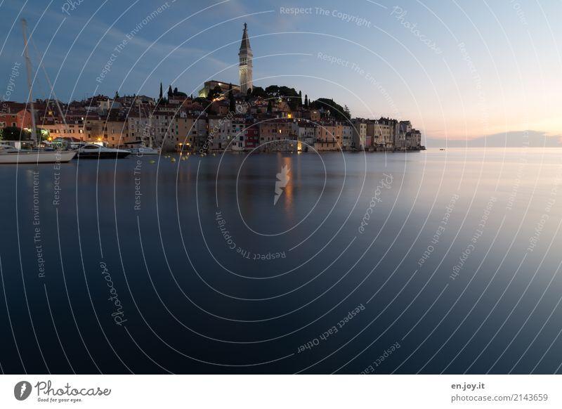 nah am Wasser gebaut Ferien & Urlaub & Reisen Tourismus Ausflug Ferne Städtereise Sommerurlaub Meer Himmel Horizont Sonnenaufgang Sonnenuntergang Rovinj