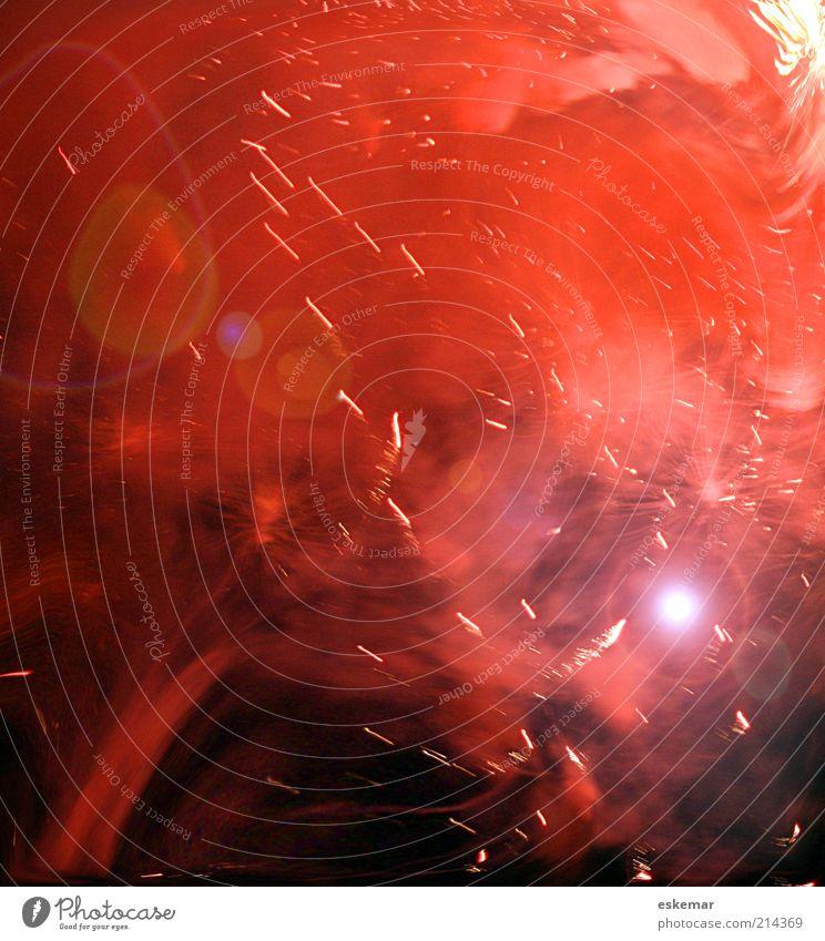brodeln Himmel rot schwarz dunkel Bewegung glänzend rosa Silvester u. Neujahr Nachthimmel außergewöhnlich Rauch leuchten Weltall Symbole & Metaphern Urelemente