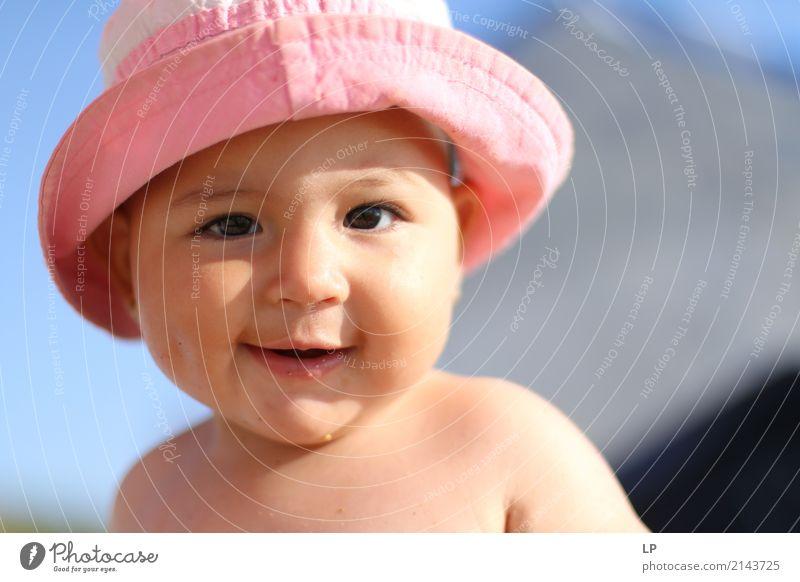 Lustiges Gesicht 4 Mensch Kind ruhig Freude Leben Lifestyle Gefühle Familie & Verwandtschaft Stimmung Freizeit & Hobby Zufriedenheit Kindheit Fröhlichkeit Baby