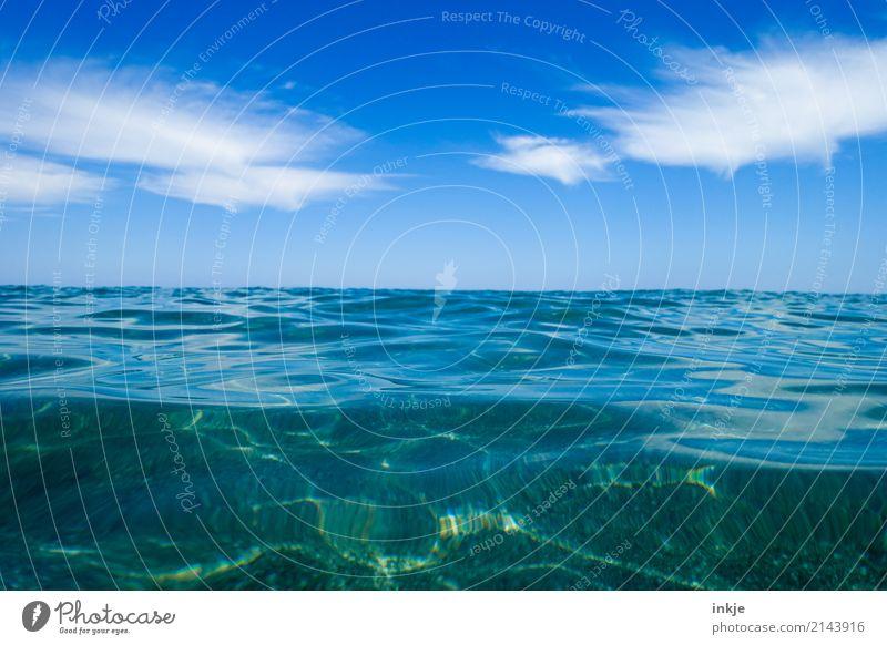3 Natur blau Sommer Wasser Meer Wolken Wärme Gefühle Horizont frisch Schönes Wetter Sauberkeit Klarheit maritim Meerwasser Urlaubsstimmung