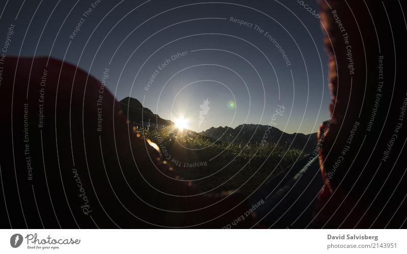 early Morning Himmel Natur Ferien & Urlaub & Reisen Sommer Landschaft Ferne Berge u. Gebirge Sport Freiheit Tourismus Stimmung Felsen Ausflug wandern