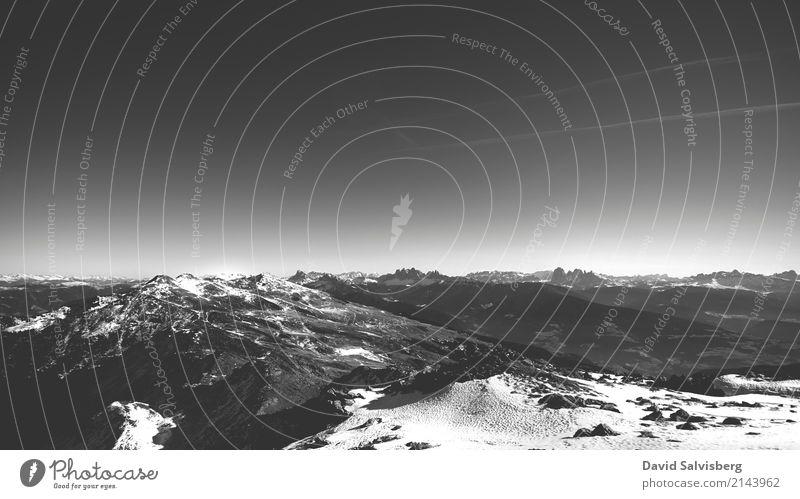 Mountain View Himmel Natur Ferien & Urlaub & Reisen Landschaft Ferne Winter dunkel Berge u. Gebirge Umwelt Sport Schnee Freiheit Tourismus Erde Ausflug Horizont