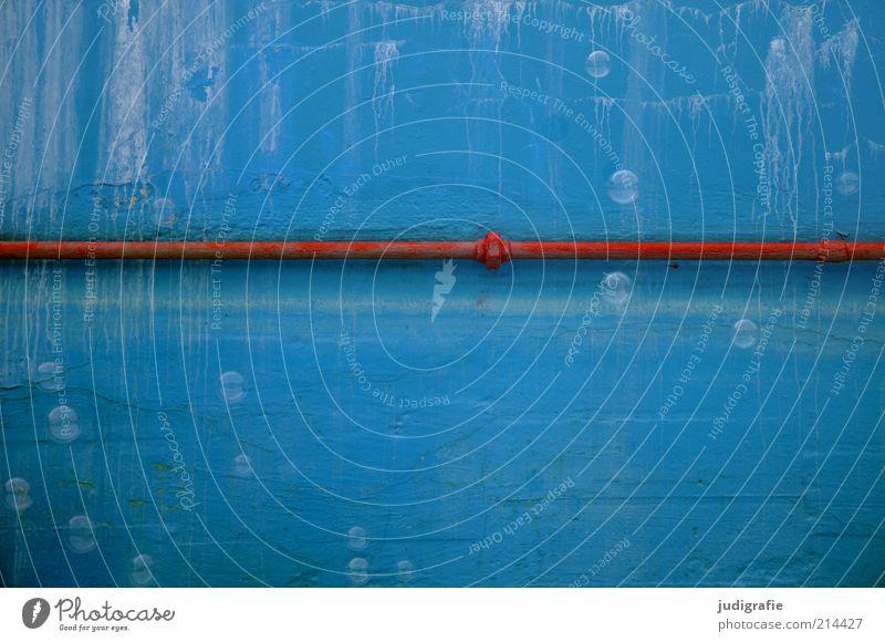 rot | blau alt blau rot Sommer Freude Farbe Wand Stimmung Linie Hintergrundbild fliegen Fröhlichkeit leer Schwimmbad verfallen Verbindung