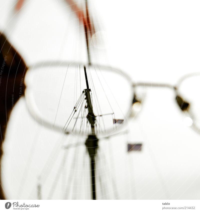 Knick . . . Wasserfahrzeug hell Metall Glas Design Seil Lifestyle modern Ordnung ästhetisch Brille Fahne Sauberkeit beobachten Reinigen einzigartig