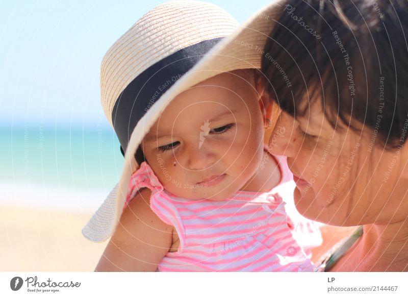 zärtlicher Moment Lifestyle schön Ferien & Urlaub & Reisen Häusliches Leben Muttertag Kindererziehung Bildung Mensch Baby Kleinkind Junge Frau Jugendliche