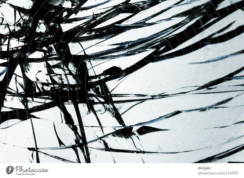 Distortion  Breaking Light with Shadow Himmel schön schwarz Linie Glas kaputt Wandel & Veränderung Schutz Wut Gewalt Verfall Riss Material Zerstörung brechen