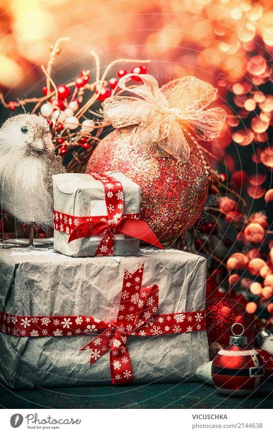 Retro Weihnachtskarte Stil Design Freude Winter Dekoration & Verzierung Feste & Feiern Weihnachten & Advent Kerze Ornament gelb Gefühle Stimmung Tradition