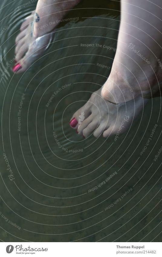 K. Schwimmen & Baden Freizeit & Hobby Ferien & Urlaub & Reisen Wellen Mensch feminin Frau Erwachsene Jugendliche Fuß Fußzeh Zehen 1 18-30 Jahre Wasser hängen