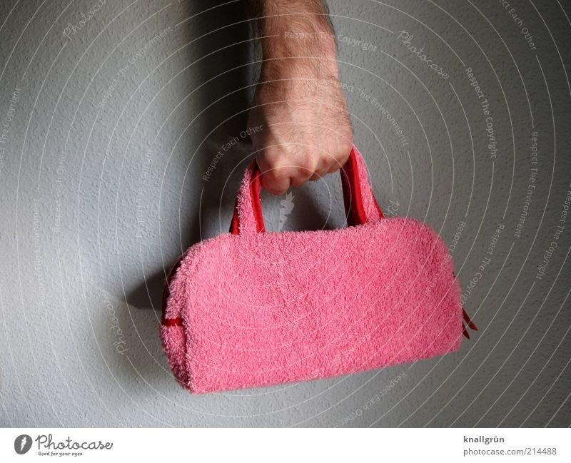 Huch! Lifestyle elegant Stil Hand 1 Mensch Tasche außergewöhnlich Coolness trendy einzigartig Kitsch verrückt rosa Gefühle selbstbewußt Design festhalten