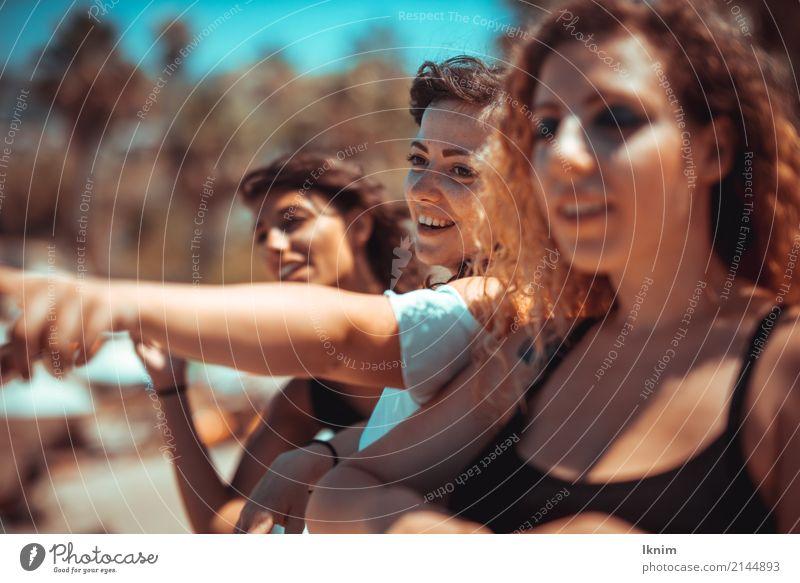 Sommerfreunde - summer friends Mensch Ferien & Urlaub & Reisen Jugendliche Junge Frau Sonne Freude 18-30 Jahre Erwachsene Leben Gesundheit Glück Tourismus