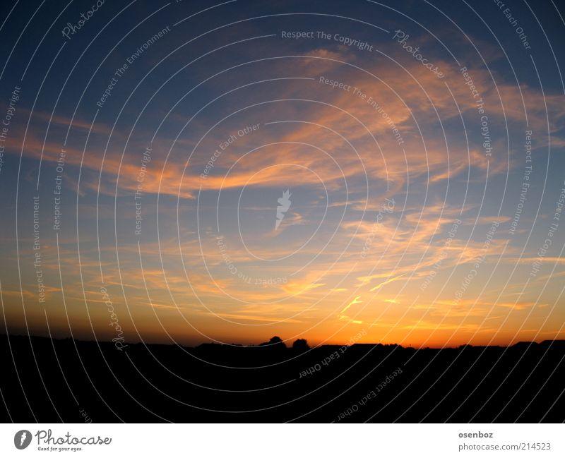 sunset Himmel Sommer Wolken Ferne Landschaft ästhetisch Sonnenaufgang Schönes Wetter Abenddämmerung Textfreiraum