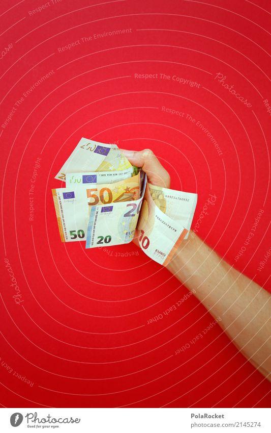 #AS# Raffgier Hand Kunst ästhetisch Erfolg Geld festhalten viele Geldinstitut Reichtum Wirtschaft bezahlen reich Aggression Geldscheine Euro Kapitalwirtschaft